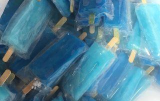 Blue popsicles
