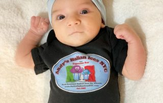 Baby with Andy's Italian Ice shirt on
