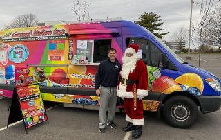 Santa visits the Andy's Italian Ice truck!