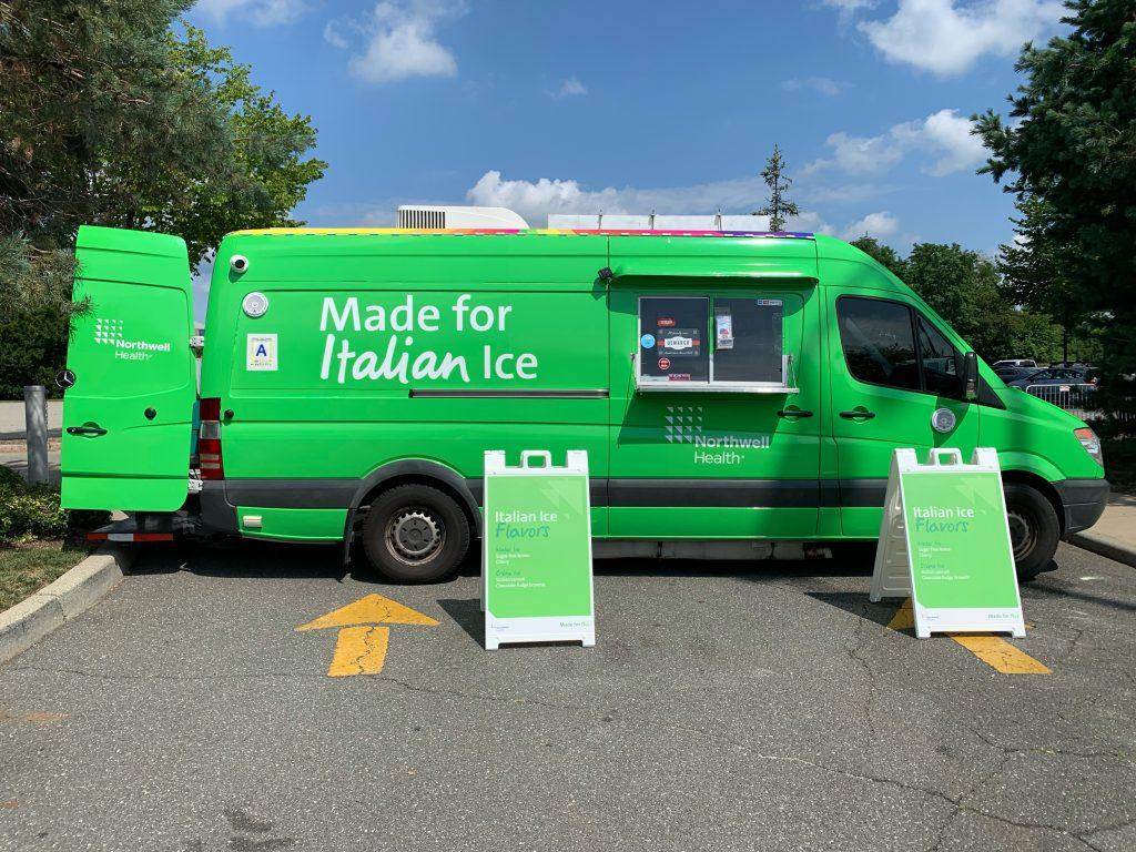 Green Northwell Health truck